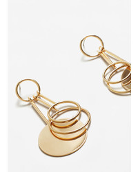 Mango Circular Pendant Earrings