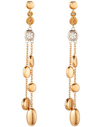 Roberto Coin Classic 18k Rose Gold Diamond Double Strand Dangle Earrings