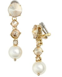 Miu Miu Classic Imitation Pearl Drop Earrings