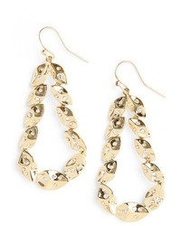 St. John Collection Swarovski Crystal Shimmer Leaf Earrings