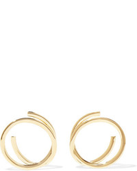 Elizabeth and James Connolly Gold Plated Hoop Earrings One Size