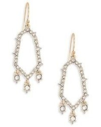 Alexis Bittar Crystal Circle Drop Earrings