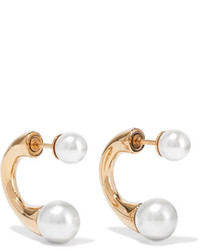 Chloé Darcey Gold Tone Faux Pearl Earrings One Size