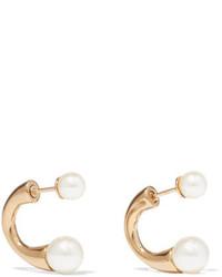 Chloé Darcey Gold Tone Swarovski Pearl Earrings One Size
