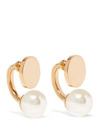 Chloé Darcy Gold Tone Swarovski Pearl Earrings One Size