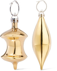 Balenciaga December Gold Tone Earrings