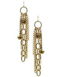 Janna Conner Designs Gold Long Gabor Earrings