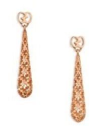 Gucci Diamantissima 18k Rose Gold Teardrop Earrings