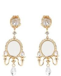 Dolce & Gabbana Fantasy Mirror Chandelier Earrings