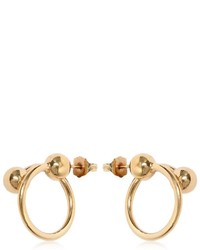 J.W.Anderson Double Ball Hoop Earrings