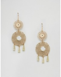 Asos Double Filigree Drop Earrings
