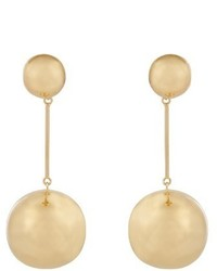 J.W.Anderson Double Sphere Gold Plated Drop Earrings