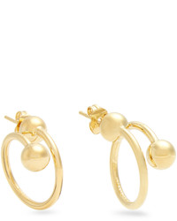 J.W.Anderson Double Sphere Gold Plated Earrings