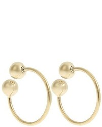 J.W.Anderson Double Sphere Gold Plated Hoop Earrings