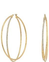 GUESS Double Wire Crisscross Hoop Earrings Earring