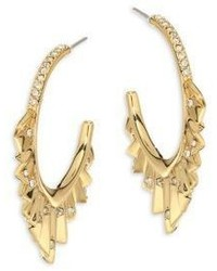 Alexis Bittar Elets Crystal Encrusted Pleated Hoop Earrings175