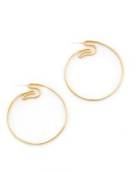 Elizabeth and James Jete Hoop Earrings