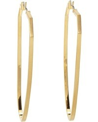 Vince Camuto Ethereal Statet Flat Metal Hoop Earrin
