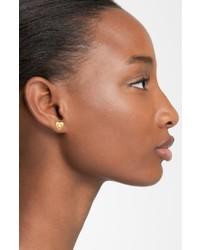 Marc Jacobs Faux Pearl Heart Stud Earrings
