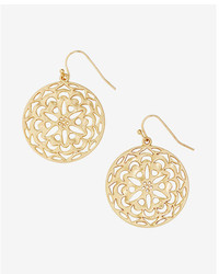 Express Filigree Circle Drop Earrings