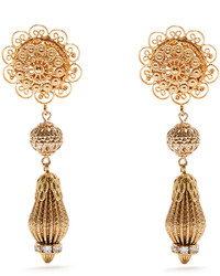 Dolce & Gabbana Filigree Clip On Drop Earrings