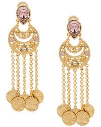 Oscar de la Renta Filigree Coin Drop Earrings