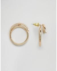 Asos Fine Circle Swing Earrings
