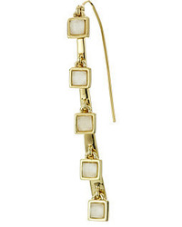 Alexis Bittar Five Stone Geometric Square Fringe Infinity Wire Earrings