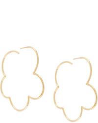 Simone Rocha Flower Shaped Hoop Earrings