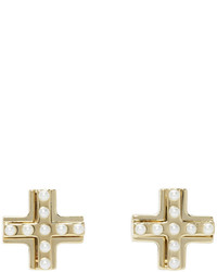 Givenchy Gold T Cut Earrings