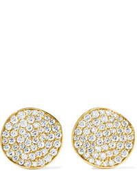 Ippolita Glamazon Stardust Flower 18 Karat Gold Diamond Earrings