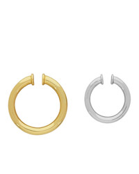 Portrait Report Gold And Silver Asymmetric Stranger Ear Cuffs