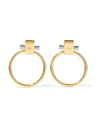 Chloé Gold And Silver Tone Earrings