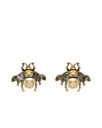 Gucci Gold Bee Motif Earrings
