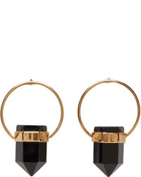 Isabel Marant Gold Black Stone Earrings