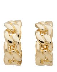 Maison Margiela Gold Chain Half Hoop Earrings