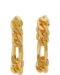 Bottega Veneta Gold Chain Link Earrings