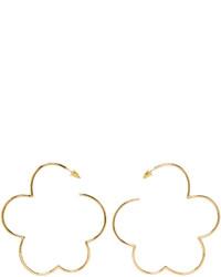 Simone Rocha Gold Cloud Earrings