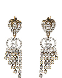 Gucci Gold Crystal Earrings