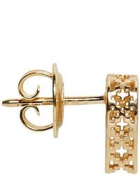 Gucci Gold Diamantissima Heart Earrings