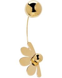 Simone Rocha Gold Double Ball Flower Earring