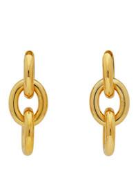 Bottega Veneta Gold Drop Chain Earrings