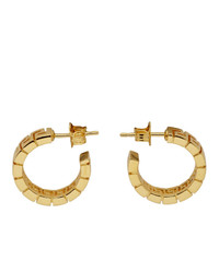 Versace Gold Greca Hoop Earrings