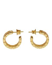 Versace Gold Greca Hoop Earrings