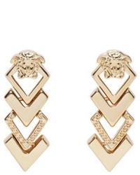 Versace Gold Medusa Arrow Earrings