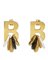 Balenciaga Gold Multirings Xl Earrings