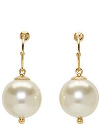 Simone Rocha Gold Pearl Drop Earrings