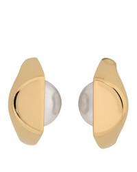 Maison Margiela Gold Pearl Earrings
