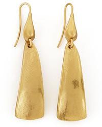 Robert Lee Morris Gold Plated Drop Earrings