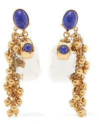 Etro Gold Plated Embellished Earrings One Size
